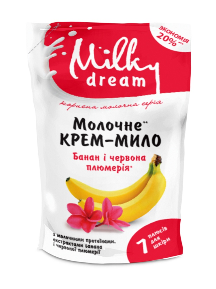 Рідке крем-мило, дой-пак «Банан і червона плюмерія» 1000 мл